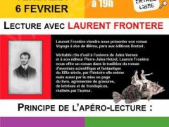 picture of APERO LECTURE AVEC LAURENT FRONTERE